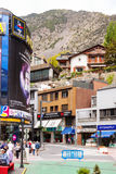 Commercial area in Andorra la Vella Royalty Free Stock Images