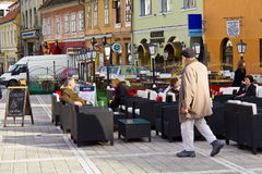 Commercial area in Brasov city Stock Photo