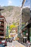 Commercial area of city  in Andorra la Vella, Andorra Royalty Free Stock Photos