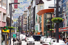 Commercial area of city  in Andorra Royalty Free Stock Image