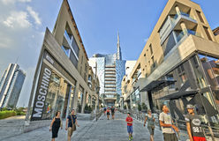 Commercial area of the piazza Aulenti Stock Photos