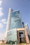 Commercial Bank da construção de Catar em Doha Foto de Stock Royalty Free