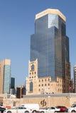 Commercial Bank da construção de Catar em Doha Foto de Stock
