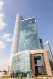 Commercial Bank del edificio de Qatar en Doha Foto de archivo libre de regalías