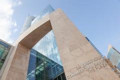 Commercial Bank del edificio de Qatar en Doha Imágenes de archivo libres de regalías