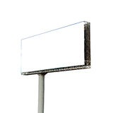 Commercial blank billboard Royalty Free Stock Photo