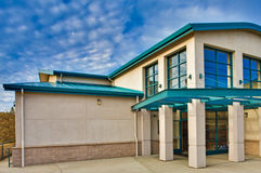 Commercial Building. Exterior of commercial office or school building. Contemporary modern design Royalty Free Stock Image