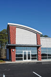 Commercial Building. A New Modern Commercial Building for Sale or Lease Stock Photo