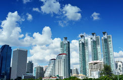 Commercial Building at Asoke. Civilization centered in Bangkok. Auto Glass manga business and commercial investment in Asoke. Location of the city center Royalty Free Stock Images