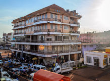 Commercial Building. Jinja, Uganda - September 2015 - JBC plaza in the heart of Jinja town. The plaza, with 4 floors, is one of the biggest plazas in the Royalty Free Stock Images
