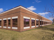 Commercial building. For lease in an industrial park Royalty Free Stock Images