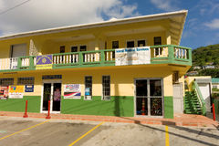 A commercial building on a sunday in the windward islands Royalty Free Stock Photography
