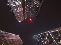 Commercial Buildings. Hong Kong commercial buildings at night Royalty Free Stock Photos