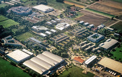 Commercial buildings. Aerial view of many commercial buildings Stock Images