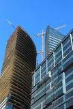 Commercial buildings construction site Stock Photos