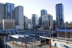 Commercial buildings in downtown Seattle Royalty Free Stock Photo