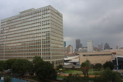 Commercial buildings at the Johannesburg Central Station stock photo