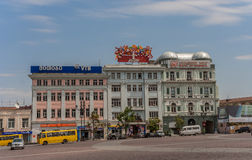 Commercial buildings at liberty square in Tbilisi Royalty Free Stock Photos
