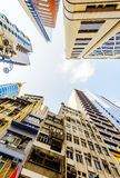 Commercial buildings and residential buildings in Hong Kong Royalty Free Stock Image