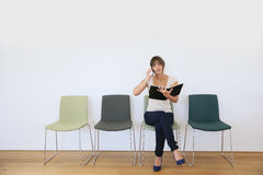 Commercial businesswoman waiting for meeting Royalty Free Stock Images
