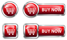 Commercial buttons Royalty Free Stock Photography