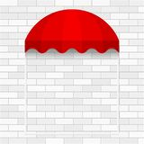 Commercial Canopy Awning Series. Vector Wall. Red Dome Awning Template. Ready Template for Poster, Banner, Advertising royalty free illustration