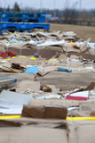Commercial Cardboard Recycling Royalty Free Stock Photography