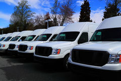 New Commercial Vans Royalty Free Stock Photography