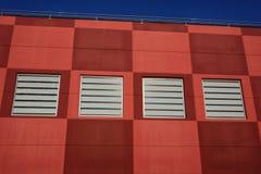 Commercial center facade stock photos
