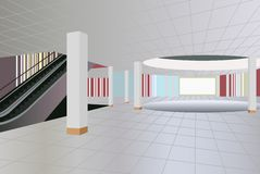 Commercial center interior Royalty Free Stock Photography