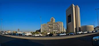 Commercial center of Jeddah. Blue sky Stock Photo