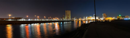 COMMERCIAL CENTER OF JEDDAH. Some of the features of Jeddah at night Stock Images