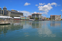 Commercial centre and buildings at Caudan Waterfront, Port Louis, Mauritius Stock Photos