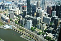 Commercial centre at the Yarra river Royalty Free Stock Photo