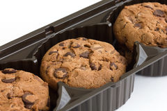 Commercial chocolate chip cookies stock image