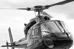 Commercial civilian helicopter pilot. AUCKLAND, NZL - JAN 31 2016:Commercial civilian helicopter pilot. According to FAA pilot must fly 150 solo hours before he royalty free stock photo