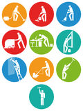Commercial cleaning buttons Royalty Free Stock Photography