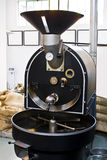 Commercial Coffee Drum Roaster. S vary in capacity and level of control. This automated machine delivers uniform roasts through gentle processing and efficient Royalty Free Stock Image