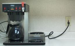 Commercial Coffee Maker. In a corporate kitchen Stock Image