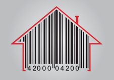 Commercial concept with barcode Stock Photos