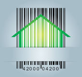 Commercial concept with barcode Royalty Free Stock Images