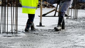 Commercial concreting floors of buildings in construction. Image Royalty Free Stock Image