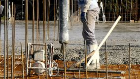 Commercial concreting floors of buildings in construction. Image Royalty Free Stock Photo