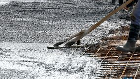 Commercial concreting floors of buildings in construction. Image Stock Photography