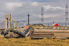 Commercial construction job site Stock Images