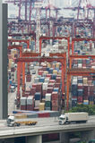 Commercial container port Royalty Free Stock Photos