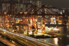 Commercial container port Stock Image