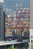 Commercial container port Stock Photos