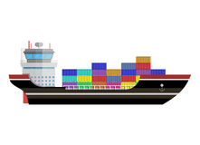 Commercial container ship Stock Photos