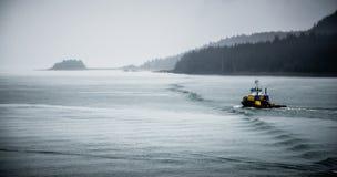 Commercial crab fishing vessel near Juneau, Alaska Royalty Free Stock Photos